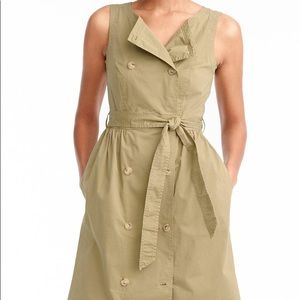 Garment Dyed Utility Dress with Tie (JCREW)